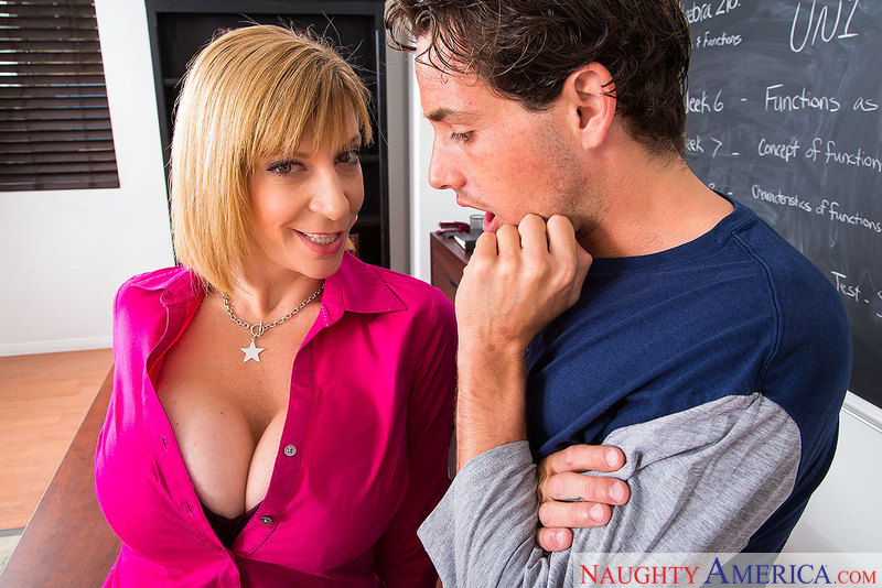 Horny math teacher Sara Jay talks 69 with her student - Sex Position 1