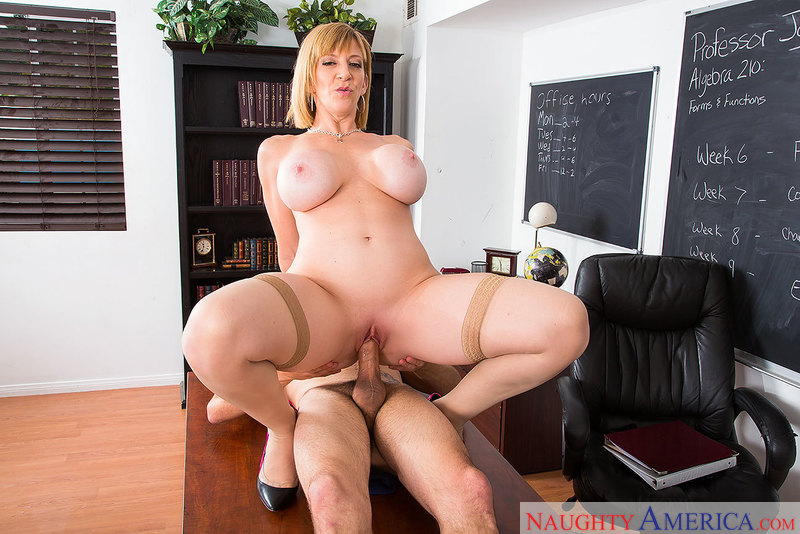 Horny math teacher Sara Jay talks 69 with her student - Blowjob