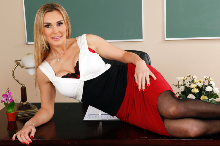 Tanya Tate fucking in the classroom with her piercings