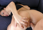 Havana Ginger fucking in the couch with her tattoos - Blowjob