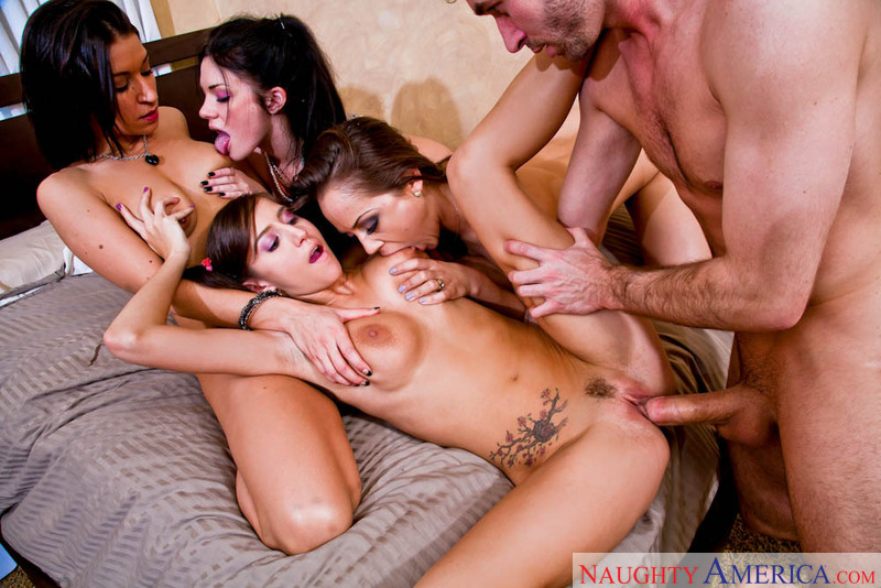Andy San Dimas fucking in the bedroom with her tattoos - Sex Position 3