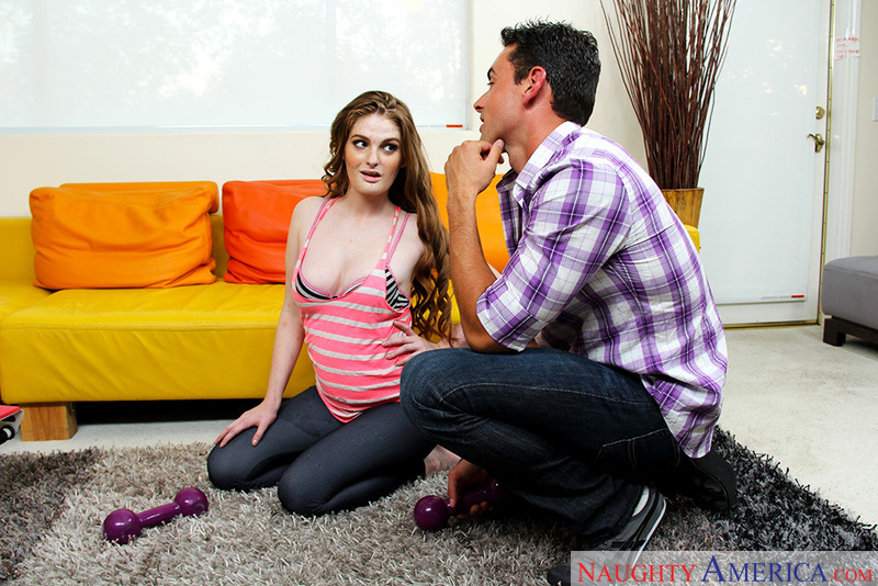 Faye Reagan fucking in the living room with her big ass - Sex Position 1