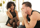 Misty Stone fucking in the living room with her brown eyes - Sex Position 1