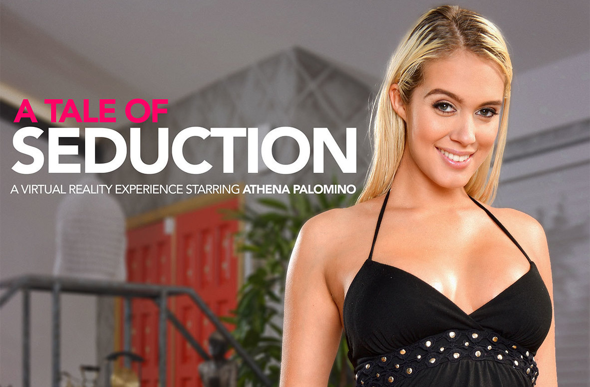 Watch Athena Palomino and Bambino VR video in Naughty America
