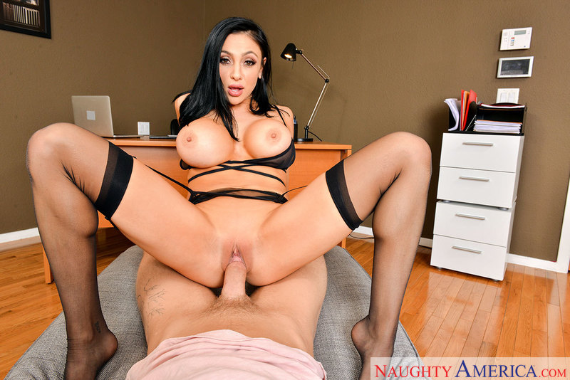 Audrey Bitoni fucking in the office with her tits vr porn - Sex Position 3