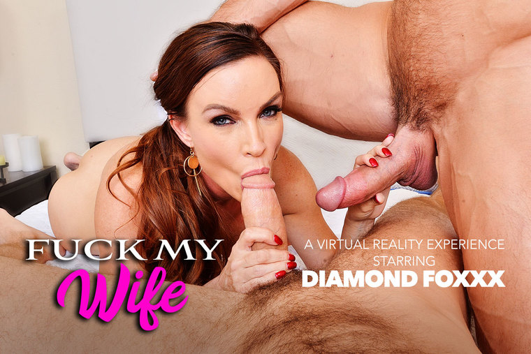 Two Dicks, One Wife: Your Wife Diamond Foxxx in VR Porn