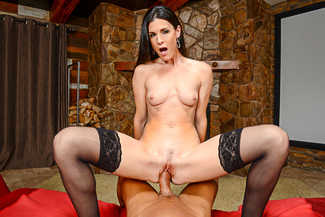 Brunette India Summer fucking in the couch vr porn - Sex Position 3