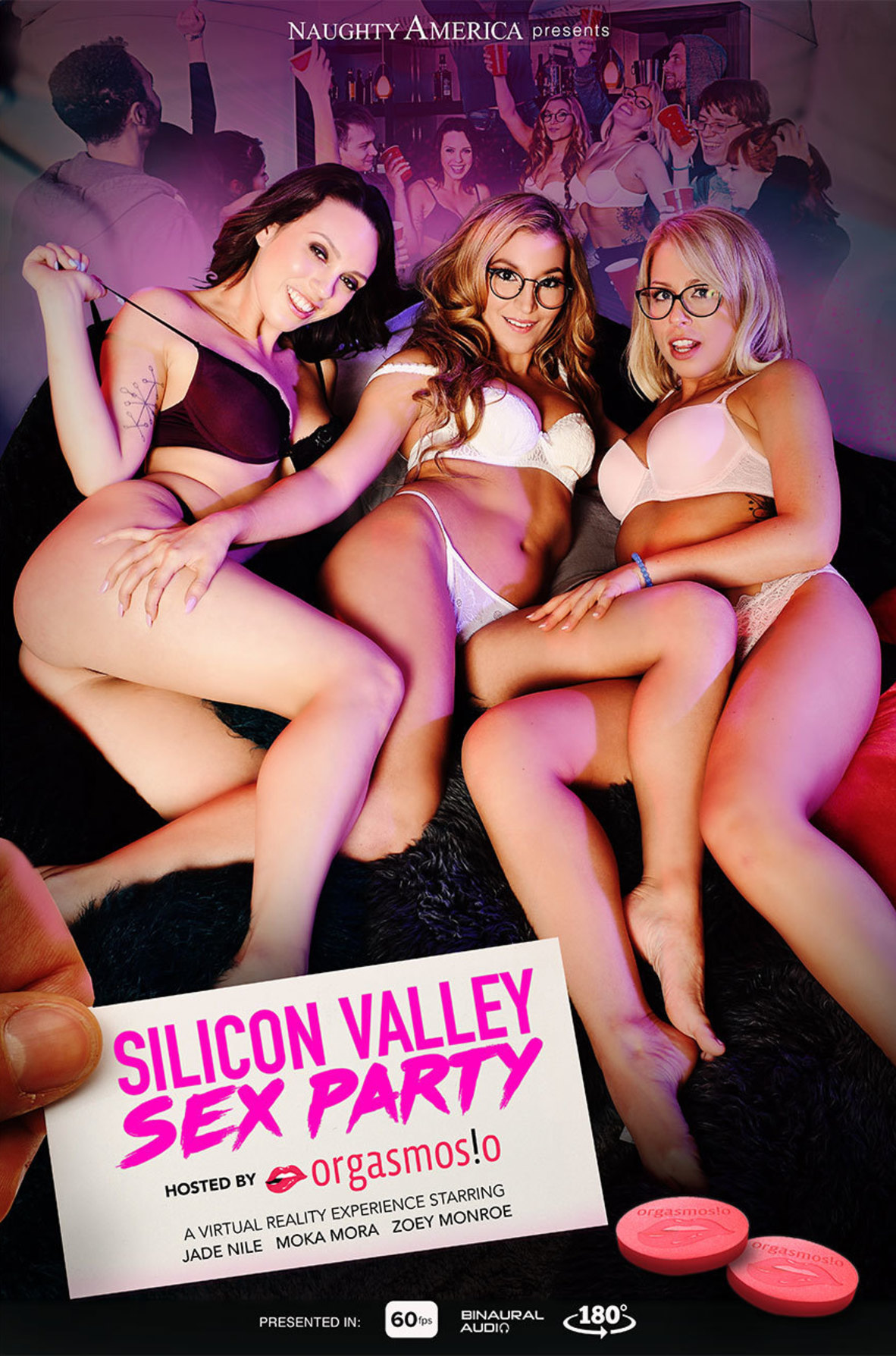 Watch Jade Nile, Moka Mora, Zoey Monroe, Dylan Snow and Ryan Driller VR video in Naughty America