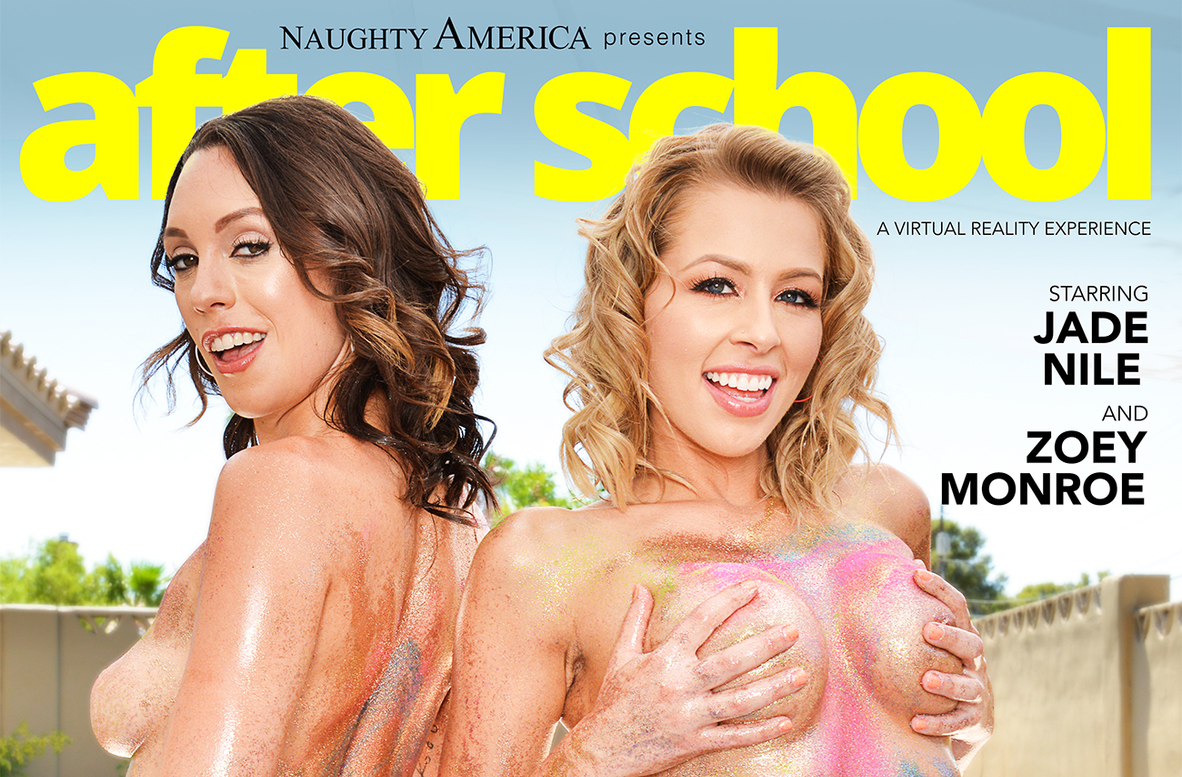 Watch Jade Nile, Zoey Monroe and Johnny Castle video in Naughty America