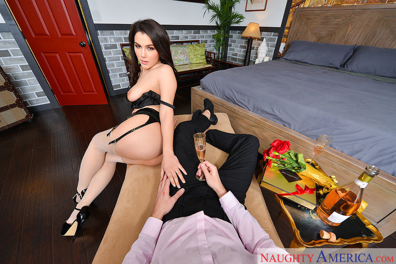 Valentina Nappi fucking in the chair with her medium tits - Sex Position 1