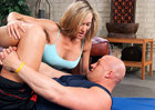 Brandi Love fucking in the floor with her big tits - Sex Position 1