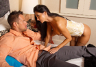 Porn star Ava Addams fucking in the bed with her tattoos - Sex Position 1