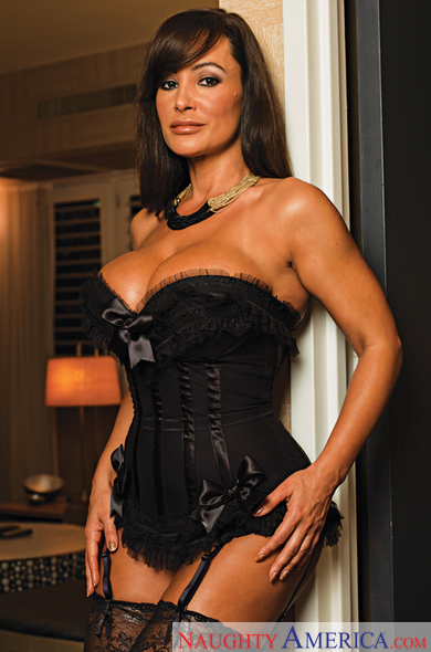 Brunette Lisa Ann fucking in the hotel with her lingerie
