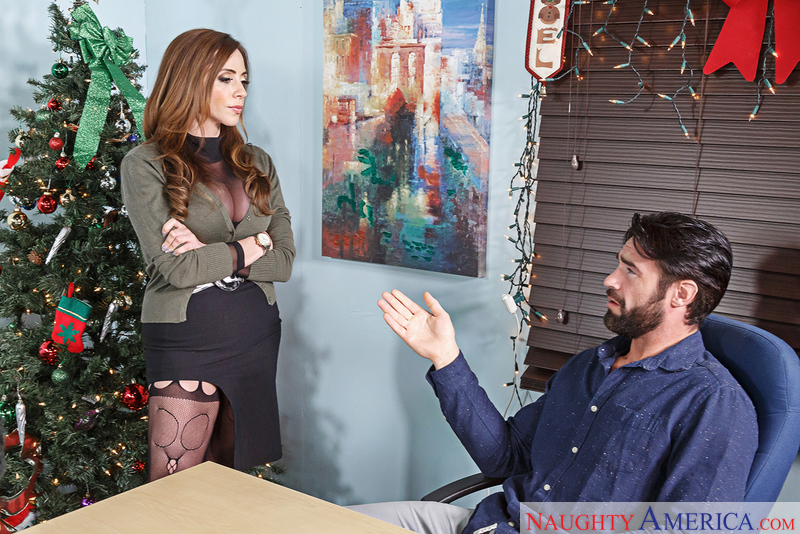 Ariella Ferrera fucking in the office with her big tits - Sex Position 1