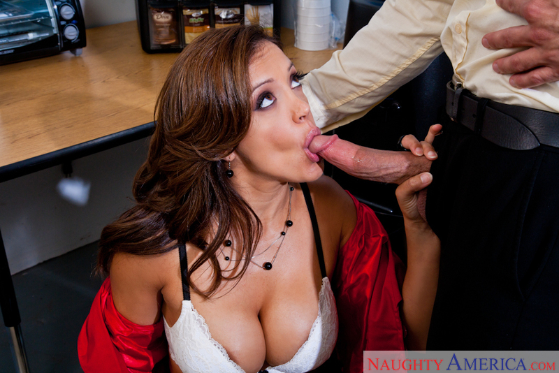 Francesca Le fucking in the break room with her tits - Sex Position 3