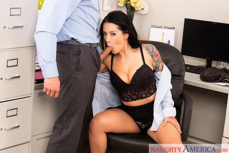 Office Orifice Katrina Jade's Holes Get Filled By Her Boss - Sex Position 2