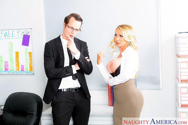 Too much office sex gets Nikki Benz fired, then rehired - Sex Position 1