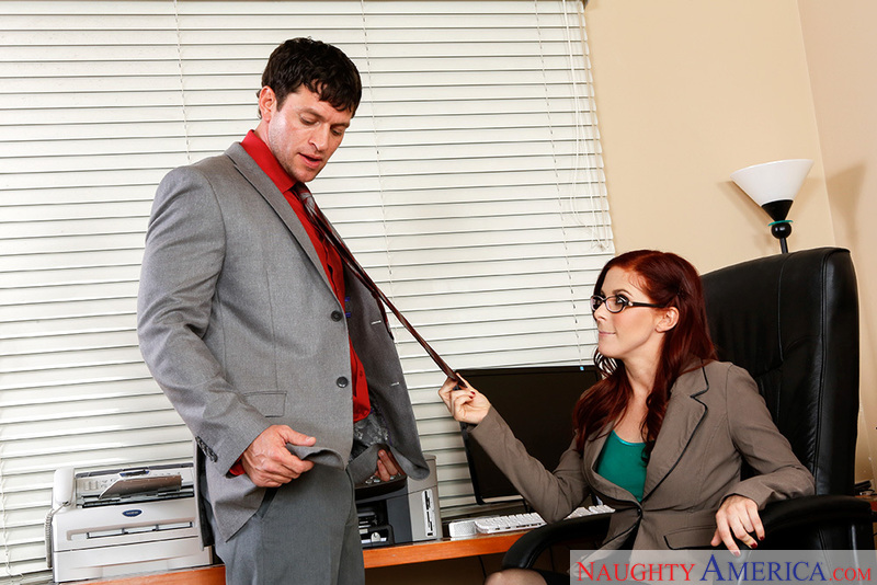 Penny Pax fucking in the office with her blue eyes - Sex Position 2