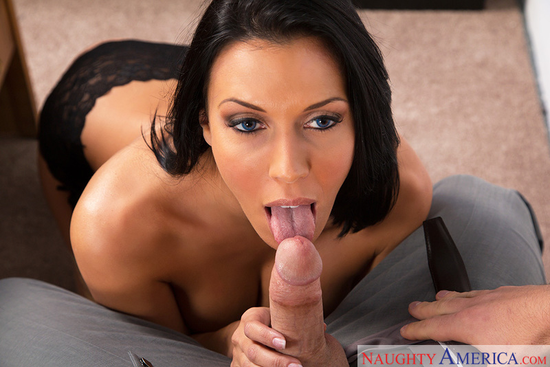 Rachel Starr fucking in the chair with her medium ass - Blowjob