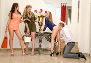 Nicole Aniston & Nikki Benz & Phoenix Marie & Mark Wood in Naughty Rich Girls