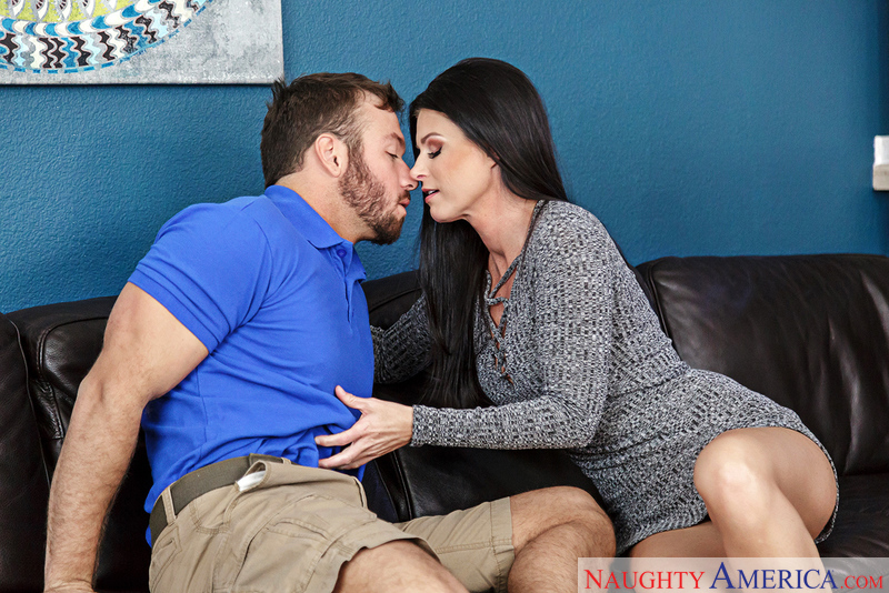 Caucasian India Summer fucking in the living room - Sex Position 1